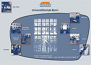Website Universitätsclub Bonn